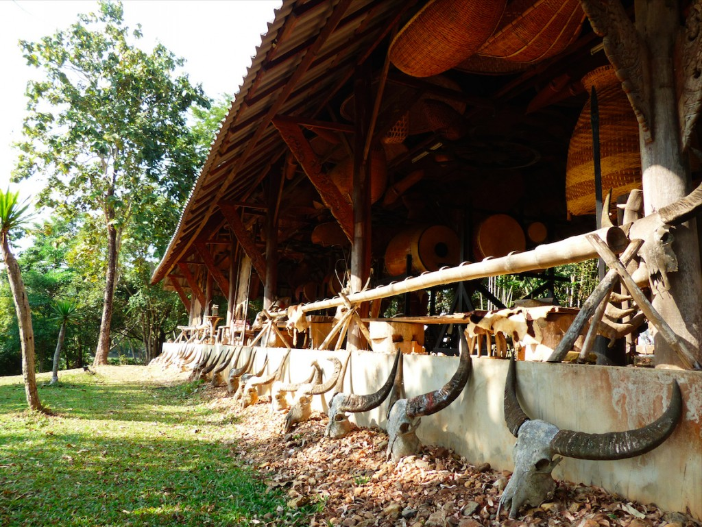 Calaveras de búfalo en la Casa Negra, Chiang Rai