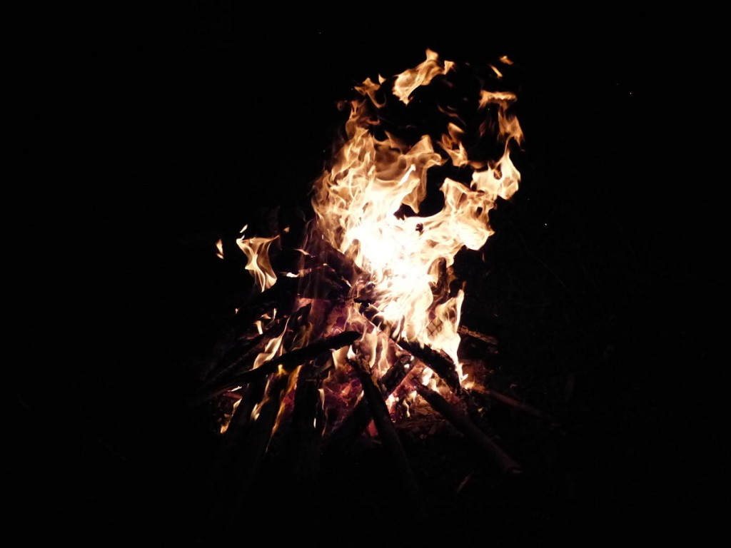 El fuego que hicieron los niños