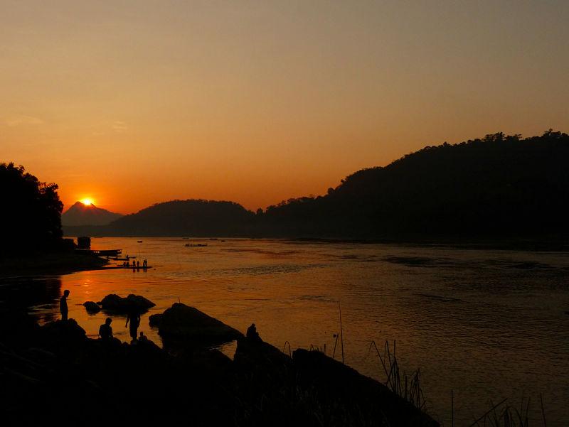 Puesta de sol en el Mekong, Luang Prabang