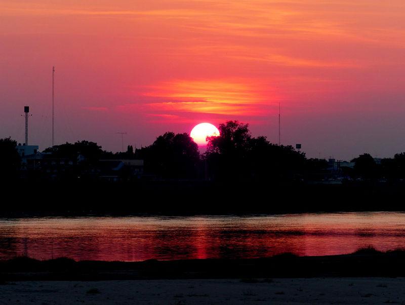 Puesta de sol en Vientián
