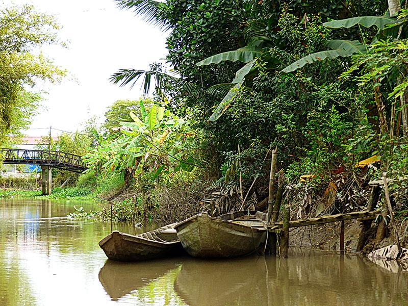 Canales del delta del Mekong, en Can Tho