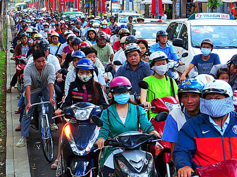 Una calle cualquiera en Saigon